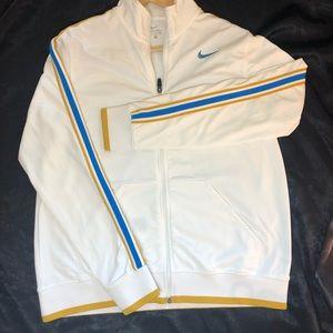 NIKE EUC retro white athletic jacket XL